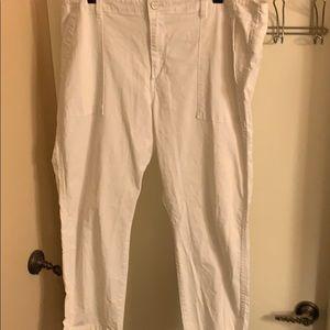 Gap White Cropped Pants - 20R